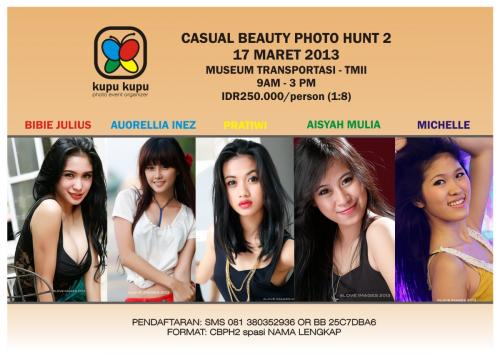 hunting foto model dengan Bibie Julius dengan tema Casual Beauty Photo Hunt2