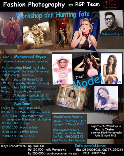 Info Workshop dan Hunting Fashion Photography