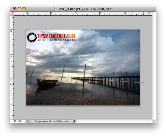 Tips Meluruskan Horizon Miring dengan Photoshop