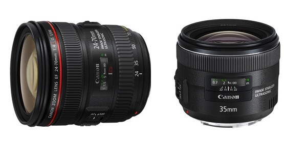 Lensa Terbaru Canon EF 24-70mm f/4L IS USM dan EF 35mm f/2 IS USM