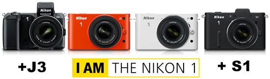 Nikon J3 Nikon S1