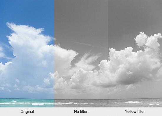 Black White Filter Kuning