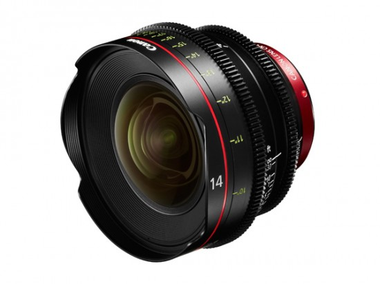 Cinema EOS prime lenses CN-E14mm T3.1 L F