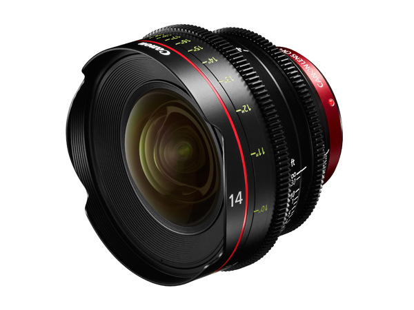 Cinema EOS prime lenses CN-E14mm T3.1 L F