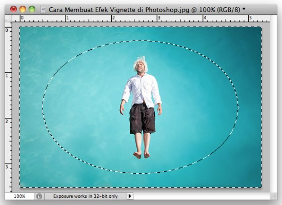 Invert Selection Membuat Efek Vignette di Photoshop