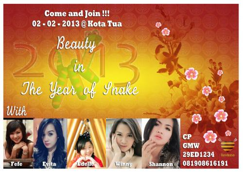 Jadwal Hunting Foto Imlek Beauty in The Year of Snake