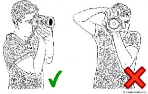 Posisi Memegang Kamera_Tumpuan Kedua Sikut