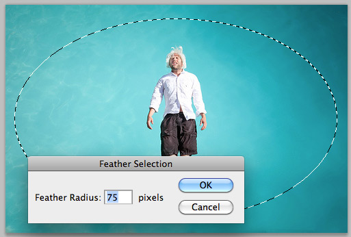 Seleksi Feather Cara Membuat Efek Vignette di Photoshop