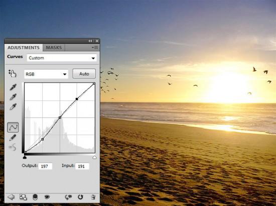 Curves untuk meningkatkan kontras foto