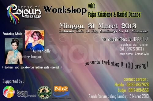 Info Workshop Fotografi Di Makasar Sence Of Colour Workshop