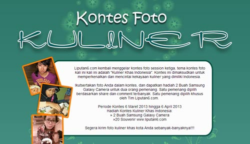 Kontes Foto Liputan6com Kuliner Khas Indonesia