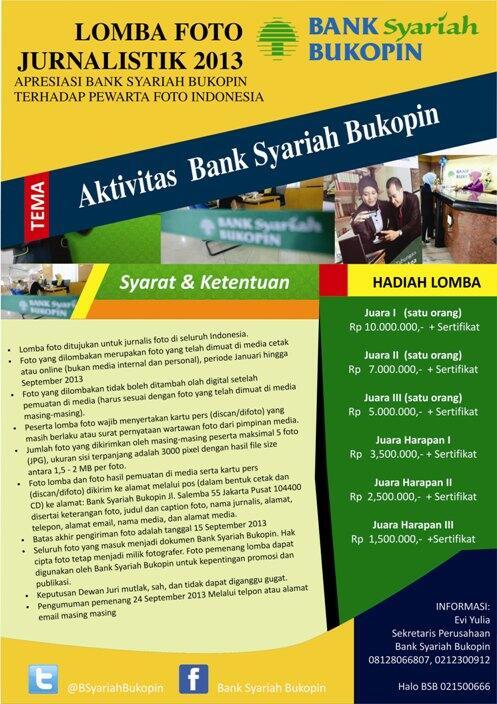 Lomba Foto Jurnalistik Bank Syariah Bukopin 2013