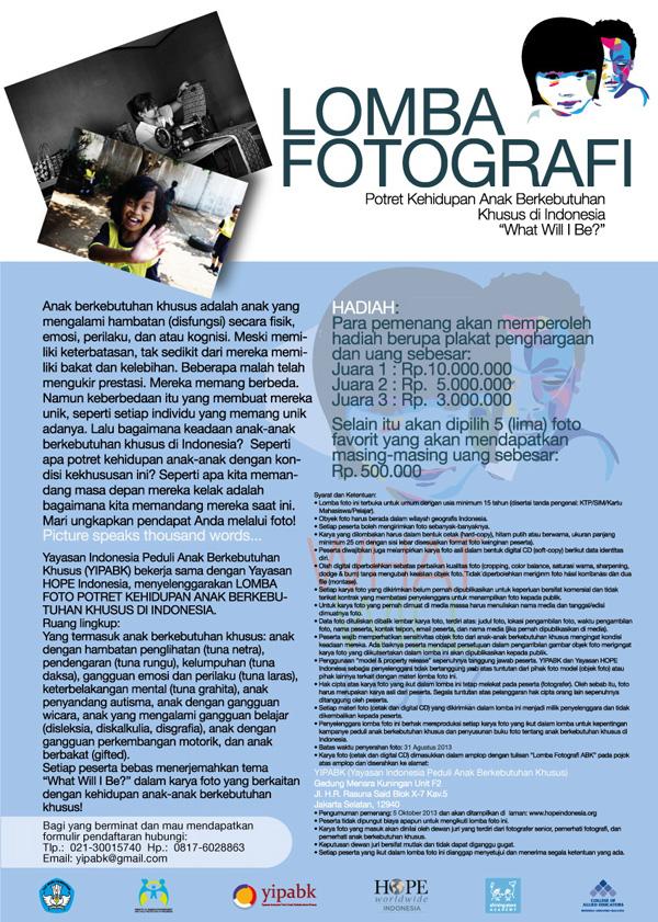 Lomba Foto Anak Berkebutuhan Khusus di Indonesia