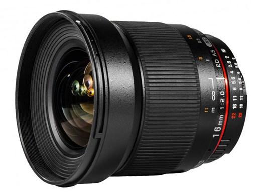 Spesifikasi Samyang 16mm f:2.0