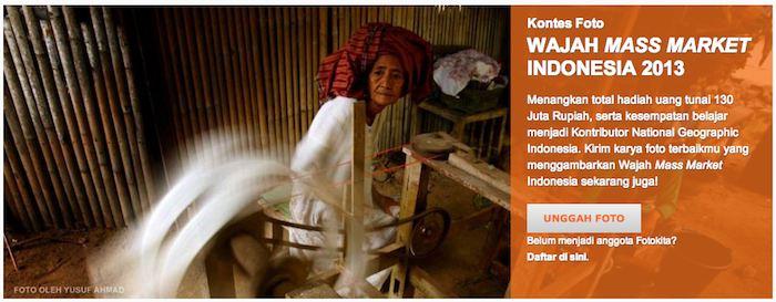 kontes foto Wajah Mass Market Indonesia 2013
