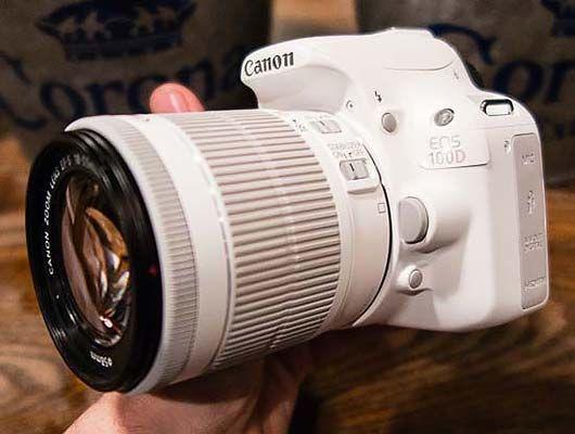 Gambar Canon EOS 100D White Edition