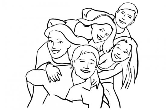 Tips Memotret Group Terlihat Ceria
