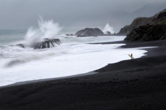 Contoh Foto Landscape Ombak Laut Yang Besar