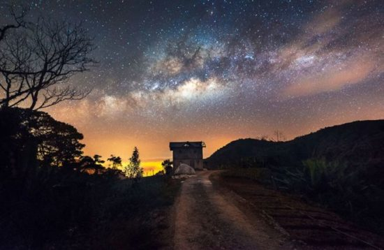 Contoh Foto Bima Sakti Di Perkebunan