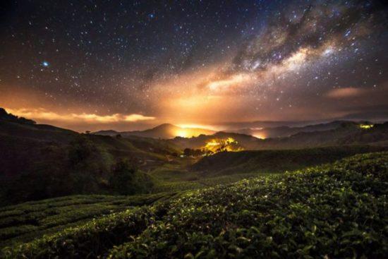 Foto Bima Sakti Di Kawah Ijen
